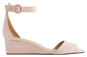 J.Crew Suede Ankle Strap Feminine Delicate Petal (Pale Pink) Wedges