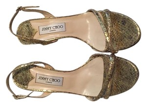 Jimmy Choo Bridal Slingback Gold Sandals