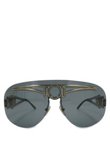 Versace Versace Gray Frameless Aviator 2131 Sunglasses