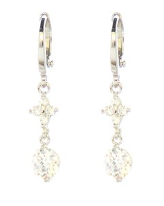 The Robbie Clarity CZ Stone Petite Dangle Earrings