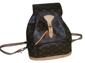Louis Vuitton Canvas Montsouris Weekend Travel Backpack