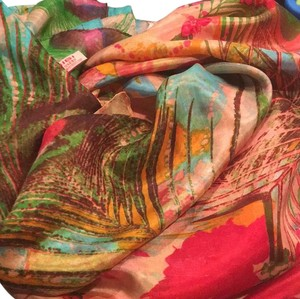 Sigi Silk Huge Gorgeous Scarf Wrap Colorful