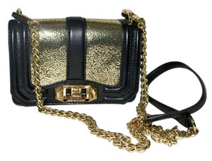 Rebecca Minkoff Gold Leather Mini Cross Body Bag