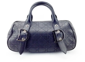 Dior Quilted Leather Cannage Satchel in Black