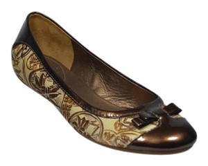 Cole Haan Ballet Bow Brown/Cream Flats