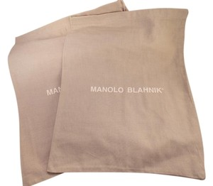 Manolo Blahnik MANOLO BLAHNIK (2) BRAND NEW GRAY SHOE TRAVEL/DUST BAGS