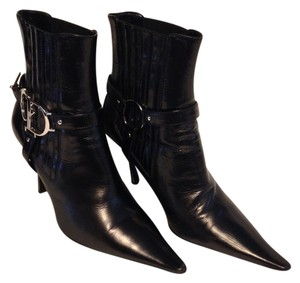 Christian Dior Leather Leather Soles Black Boots