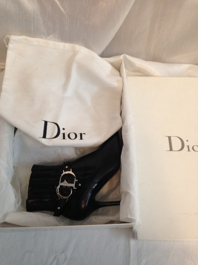 Dior Leather Leather Soles Leather Insoles Leather Lining Cd Logo Hardware Studded Chrome Hardware Skinny Heels Pointed Toes Black Boots