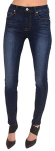 7 For All Mankind High Waisted Dark Wash 25 Skinny Jeans-Dark Rinse