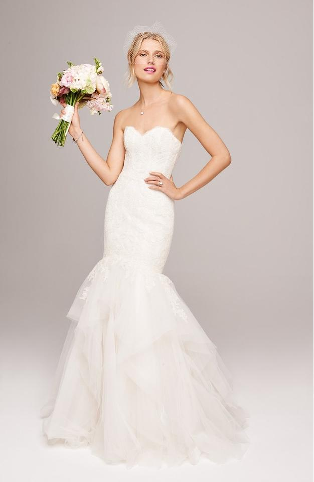 Amsale Ivory French Lace and Tulle \'carson\' Bridal Gown Feminine ...