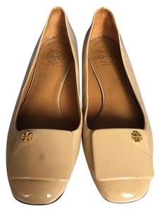 Tory Burch Patent Leather Stylish Comfortable Nude Flats