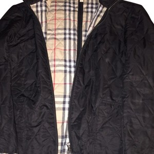 Burberry Black with burberry pattern inside Jacket