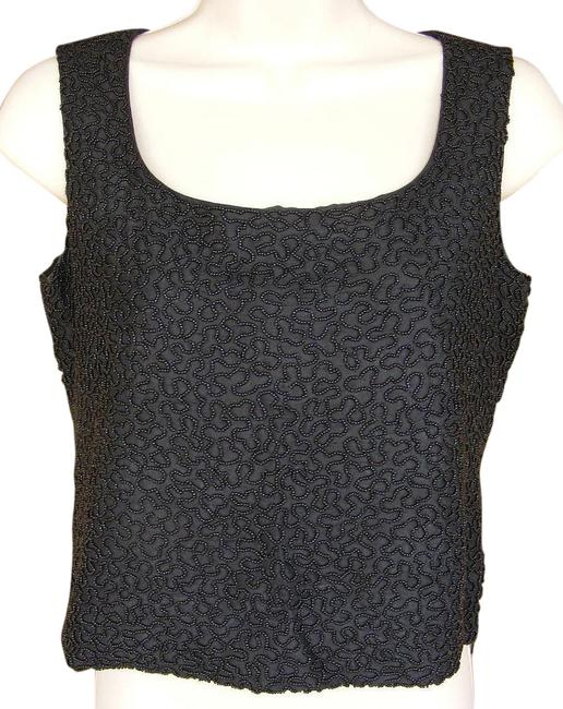 Preload https://item1.tradesy.com/images/burberry-black-fully-beaded-cocktail-halter-silk-night-out-top-size-petite-2-xs-19926130-0-1.jpg?width=400&height=650