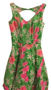 Lilly Pulitzer short dress Green, pink on Tradesy