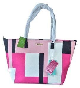 Kate Spade Shore Street Pink Black Fuschia Diaper Bag