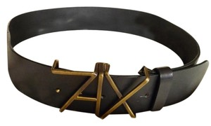 A|X Armani Exchange Genuine Leather and Brass-Made In Italy