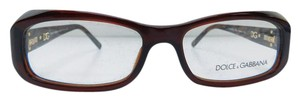 Dolce&Gabbana New DG 3082G 1582 Brown Acetate Full-Frame Rhinestone Eyeglasses 54mm