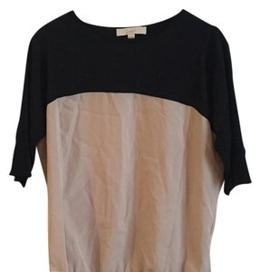 Ann Taylor LOFT Top Black, tan