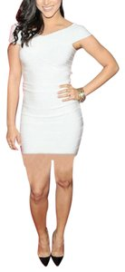 bebe Bodycon Bandage Off Shortsleeve Dress