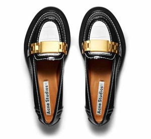 Acne Studios Loafer Margiela Celine Gold Black Flats