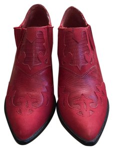 Circle S Brand Western Retro Vintage Red Boots