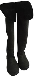 Australia Luxe Collective Shearling Ugg Over The Knee Black Boots