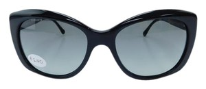 Burberry New B 4164 3001/11 Black Acetate Gray Gradient Lens 55mm Italy