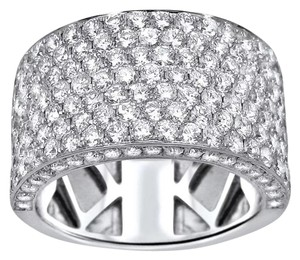 New Half Eternity Zircon 18k White Gold Filled Wedding Band