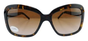 Burberry New B 4173 3002/13 Havana Acetate Plaid Brown Gradient Lens 58mm Italy