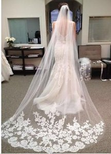 Long Chapel Tulle Lace Veil