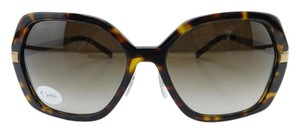 Burberry New B 4153-Q 3002/13 Havana Gold Acetate Brown Gradient Lens 58mm