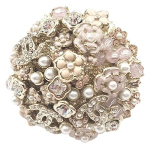 Chanel Chanel Light Gold Pastel Floral Round Large Ring