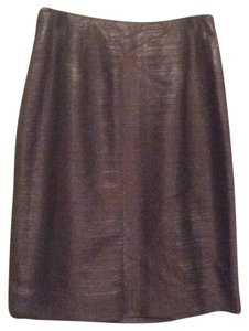 Lourdes Chavez Skirt Brown mettalic