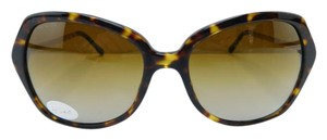 Burberry New B 4193 3002/T5 Havana Gold Acetate Polarized Gradient Lens 57mm