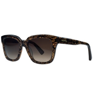 Valentino Valentino Brown Lace Wayfarer Sunglasses