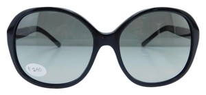 Burberry New B 4178 3001/11 Black Gold Acetate Gray Gradient Lens 58mm Italy