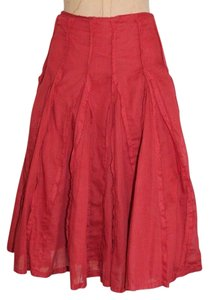 Anthropologie Vintage Flare Odille Skirt RED