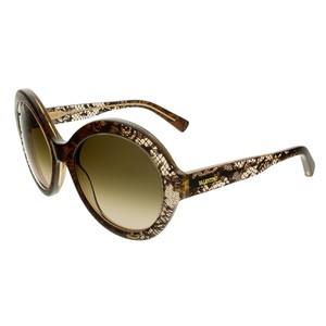 Valentino Valentino Brown Faded Round Sunglasses