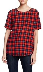 Equipment Top Plaid red