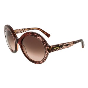 Valentino Valentino Bordeaux Faded Round Sunglasses