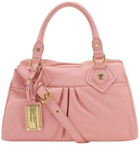 Marc by Marc Jacobs Classic Q Baby Groovee Leather Satchel in Pink