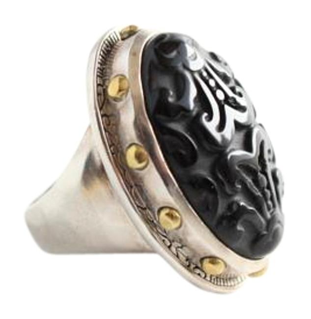 Item - Black and Silver Into The Night R3362 Ring