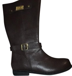MICHAEL Michael Kors Brown with gold accents Boots