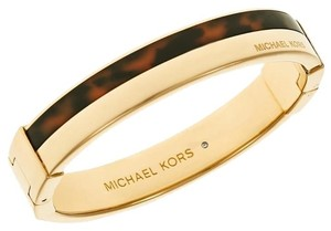 Michael Kors NWT MICHAEL KORS Gold-Tone Tortoise Hinge Bangle MKJ4445710