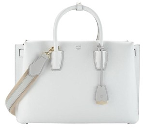 MCM Satchel in Cloud Dancer
