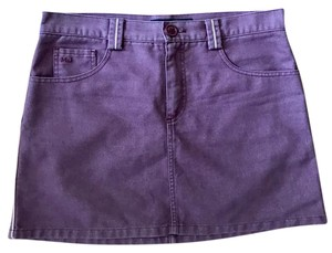 Marc Jacobs Denim Mini Mini Skirt Purple