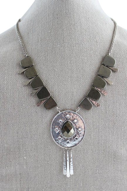 Item - Silver and Gray Sterling Amarillo N3449 Necklace