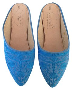 Other Morocco Slipper Embroidery Blue Mules