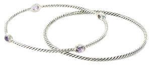 David Yurman David Yurman Color Classics 3mm Bracelet Set 4 Station Amethyst Sterling