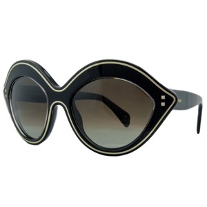 Valentino Valentino Black Almond Shaped Sunglasses